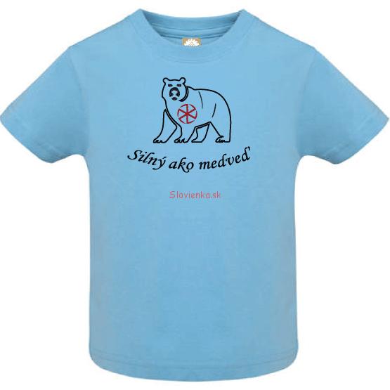 Chlapec-tričko-modre-Silný-ako-medveď-s-kolovratom
