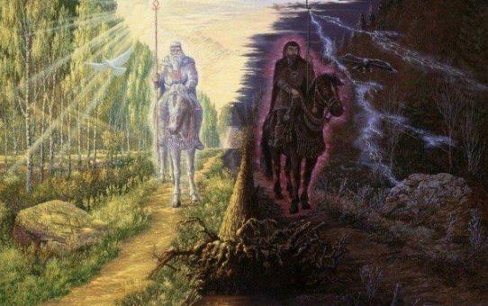 Slovanská mytológia-Ako chcel ČiernoBoh ovládnuť Vesmír