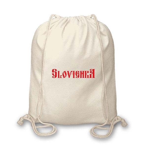 cdc708ea7 Vrecko na chrbát s výšivkou - Slovienka | Slovienka.sk