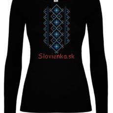 DLHE-TRICKO-Zena-Čierne-Modra-biela_slovienka.sk