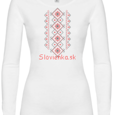 DLHE-TRICKO-Zena-BIELE-červena_slovienka.sk
