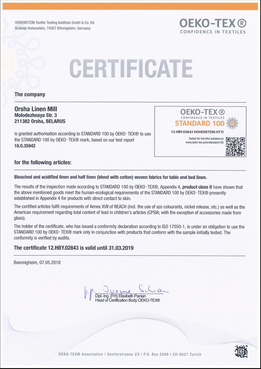 Ľanové produkty_slovienka.sk certifikat